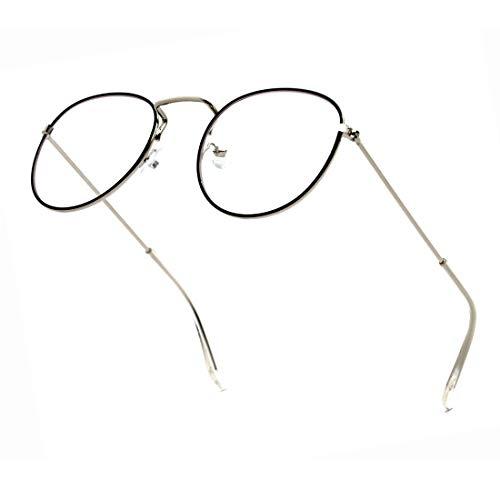 ENSARJOE Anti Blue Ray Glasses Classic Small Round Eyewear Frame Blue Light Blocking Computer Game Working Eyeglasses