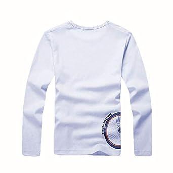 per Bambini 4-12 Anni KID1234 Maglietta a Maniche Lunghe da Ragazzo a Maniche Lunghe