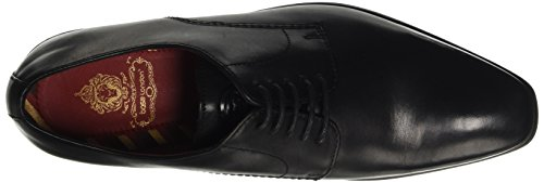 Black London da Nero George Base Waxy Uomo Scarpa Tipo Derby Black vwXd1dq