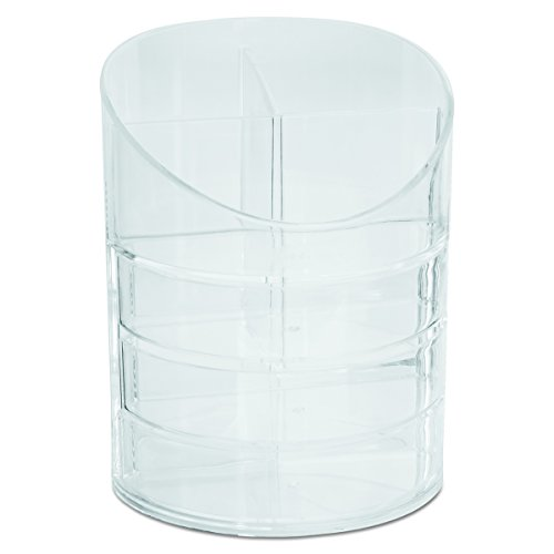 - Rolodex Divided Pencil Cup with Storage Drawers, Clear (14096ROS)