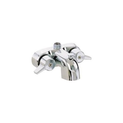 Heavy Duty 3 3/8″ Centers Chrome Plated Diverter Clawfoot Tub Faucet