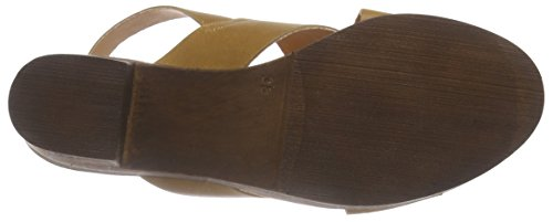 Leather Zoccoli Moda Vmflica Donna Marrone Vero Sandal Cognac OwE6qqB1