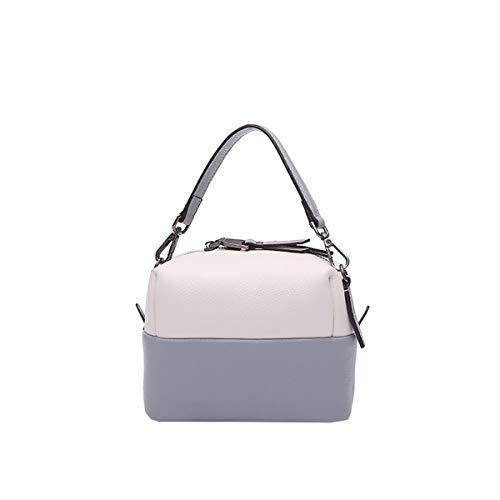Hjly Borse Portatile Monospalla In Con Pelle Bianco Leather Blu ppqrw5R