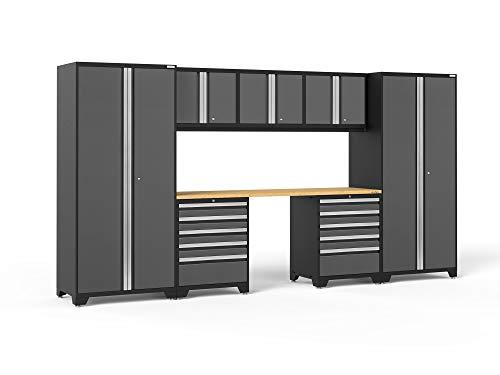 NewAge Products Pro 3.0 Gray 8 Piece Set, Garage Cabinets, 52090