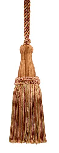 (Decorative 5 1/2 Inch Key Tassel, Camel Gold, Light Pink, Pumpkin, Terra Cotta, Style# KTC055 Color: Desert Sand - PR21 )