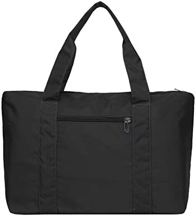 Large Foldable Travel Duffel Bag for Women Men, Waterproof Nylon Gym Bag Overnight Weekender Bag, Lightweight Carry-on Tote Duffel Shoulder Purse in Trolley Handle