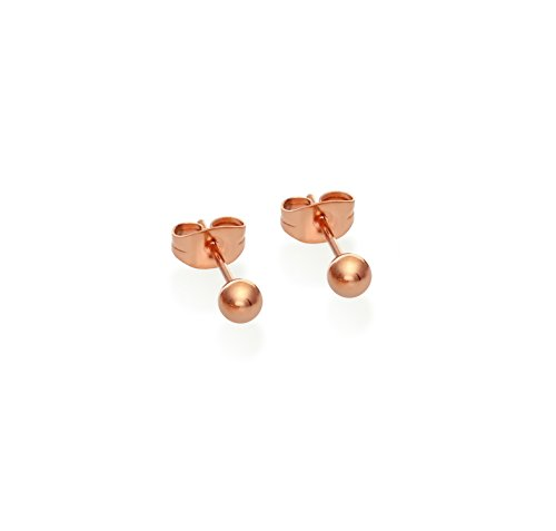 Stainless Steel Toned Round Earrings