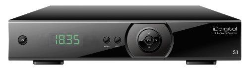 IDdigital S1 com digitaler HD-Satelliten-Receiver mit 2 Fernbedienungen (HDMI, Unicable, SCART, CI+, USB) schwarz