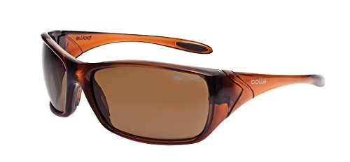 Bolle Safety Voodoo Safety Glasses, Shiny Brown Frame, Brown Lenses ()