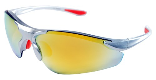 JiMarti TR15 Sunglasses for Golf, Fishing, Cycling-Unbreakable (Silver & Orange revo) Review