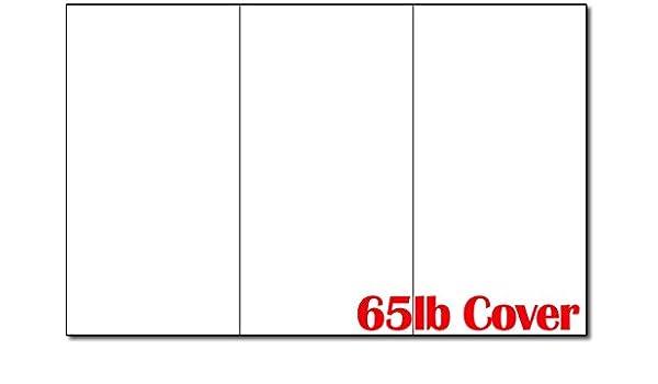 65lb white 11 x 17 large tri fold brochure paper 250 trifold