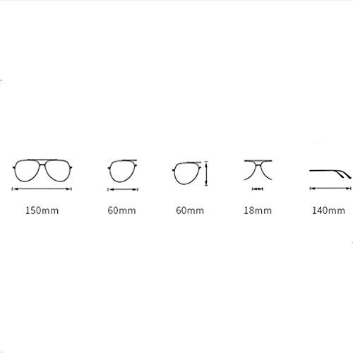 D Gafas Fashionable Color gran Gafas de Gafas C con Ladies polarizadas tamaño de lentes Classic Sungeye de sol sol pFT0qwZ