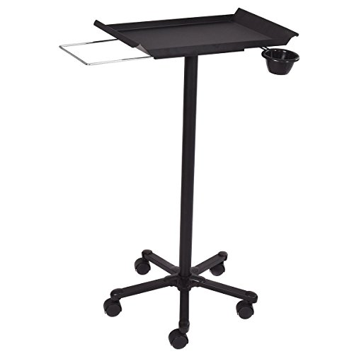 Giantex Beauty Trolley Cart Equipment Salon Spa Service Tray with Appliance Holder