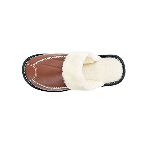 Pictures of HRFEER Women's Cozy Faux Fur House WS17 Coffee 7