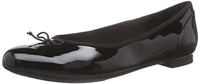 Clarks Couture Bloom Ballet Pumps Womens Shoes 5.5 B(M) US Women Black Patent