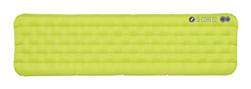 Big Agnes Q Core SLX Super Light Three Season Camping Sleeping Bag Pad, Lime Green, Wide Regular