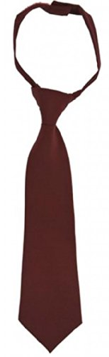 Burgundy Velcro - French Toast Boys School Uniforms Adjustable Solid Color Tie 14-20 Burgundy