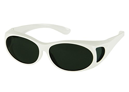 LensCovers Sunglasses Wear Over Prescription Glasses-Small Size-White
