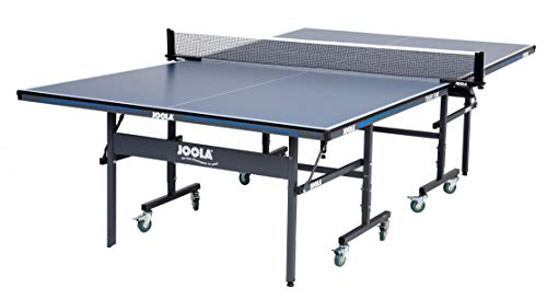 (JOOLA Tour - Competition Grade MDF Indoor Table Tennis Table with Quick Clamp Ping Pong Net Set - 10 Minutes Easy Assembly - USATT Approved - Ping Pong Table with Single Player Playback Mode)