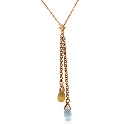 Citrine Necklace Topaz (14k 20