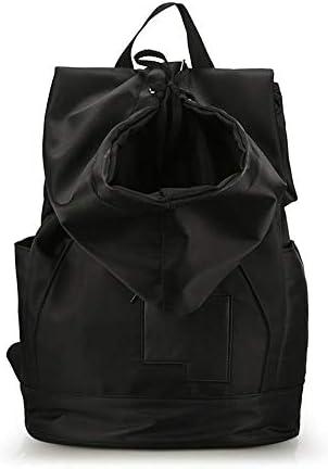Waitousanqi ファッショントレンドブラックスポーツバッグナイロン布人格ショルダーバッグアウトドアカジュアル旅行バックパック男性と女性 A15 (色 : Black)