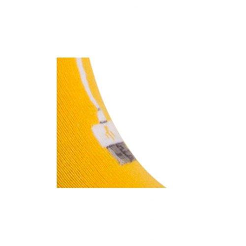 Coton Motif Invisibles Connexion Achile Chaussettes Jaune En wFnqR