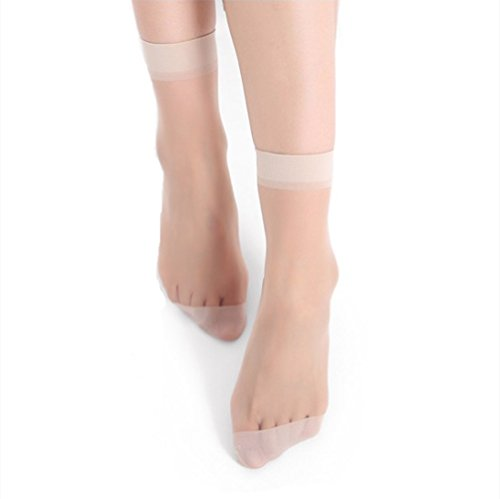 AOASK 10 Pairs Women's Nylon Ankle Short Sheer Socks 15 D,Summer Comfortable and Breathable