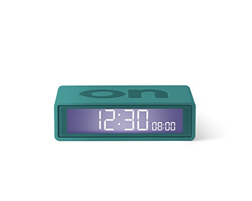 Lexon FLIP Travel, LCD Alarm Clock, Different/Gaudy Colours (Travel Flip Alarm Clock)