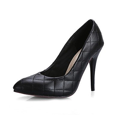 Toe US6 Stiletto EU36 Shoes amp;Amp; White Heels Dress Black Evening Heel CN36 Zormey UK4 Pointed Party Women'S BKR464