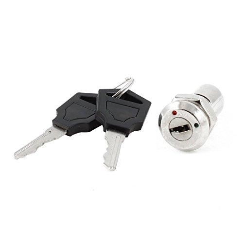 Keylock Switch - TOOGOO(R) AC 250V 0.5A 2 Terminals On Off Tubular Key Lock Switch
