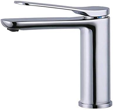 ZY-YY バスルームのシンクは、スロット付き浴室の洗面台のシンクホットコールドタップミキサー盆地全銅クロムメッキロング口ホットとコールド流域ミキサーアパート家庭用ミックス節水流域ミキサータップ