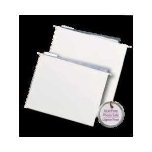 Retrospect Hanging File Folders (12 X 12 Inches) 10 Per Package - White