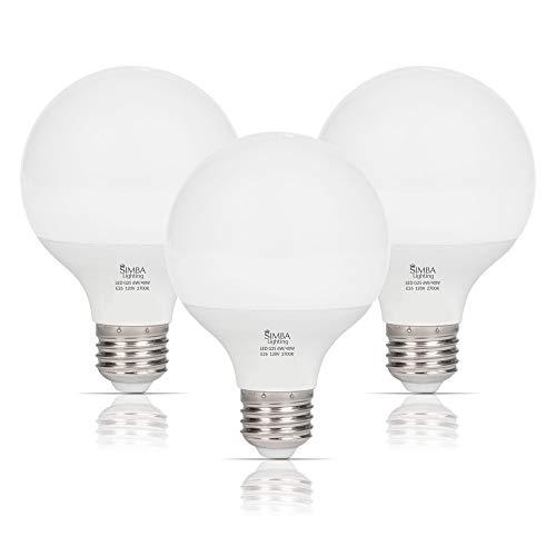 Simba Lighting LED Vanity Globe G25 (G80) Light Bulb for Bathroom, Makeup -