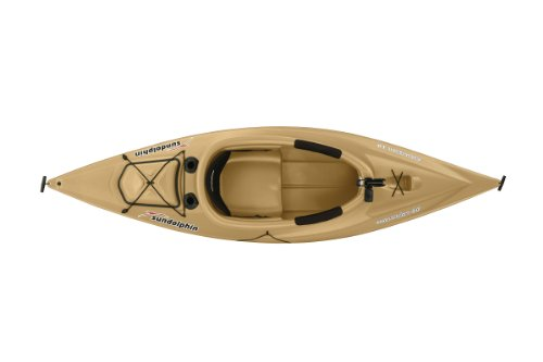 SUNDOLPHIN Sun Dolphin Excursion Sit-in Fishing Kayak (Sand, 10-Feet)