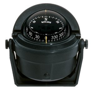 - Ritchie Navigation B-81 Voyager Bracket Mount Combi-Dial Compass, Black