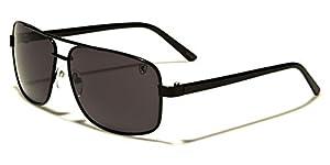 Square Retro 80s Aviator Sunglasses Men's Women's Metal Fashion Glasses Black Gold Silver Gray