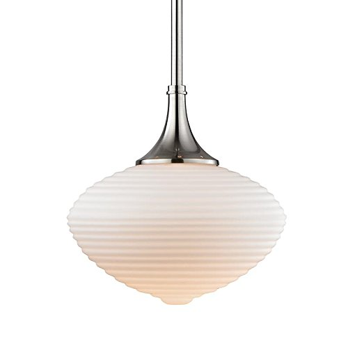 Hudson Valley Lighting Knox Pendant - Satin Nickel Finish with Matte Opal Mouth-Blown Glass - Valley Store Fashion