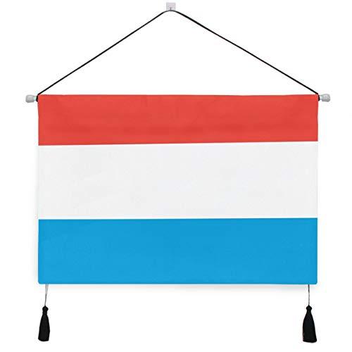 Printedin3D Luxemburg Flag Canvas Wall Art Home Decor Ready to Hang - 17.5×24.5 inch