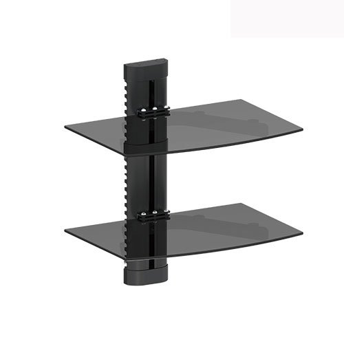 Impact Mounts 2 Tier Dual Glass Shelf Wall Mount for Cable B