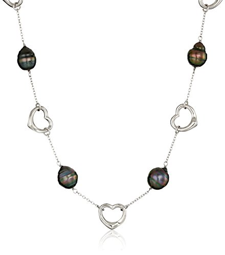 Sterling Baroque Tahitian Cultured Necklace