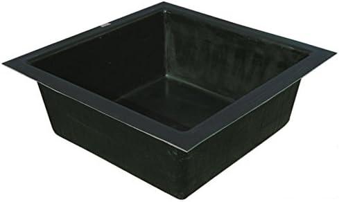 GFK Estanque Platillos cuadrado 100/100 cm 200 litros. Cuadrado recipiente de fuente Platillos Platillos: Amazon.es: Jardín