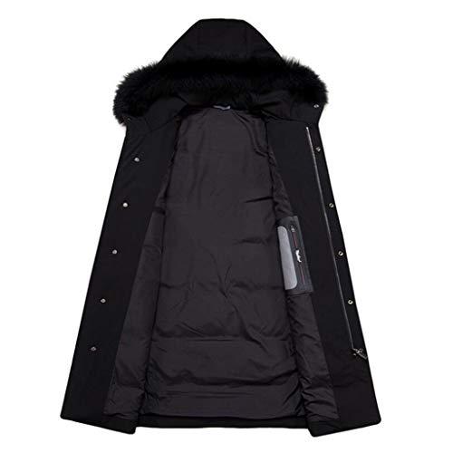 Lungo Nero Warm Black colore Down Jacket Cappuccio In Uomo Dimensioni L Camouflage Invernale Da Con The Giacca 7Tqv6T