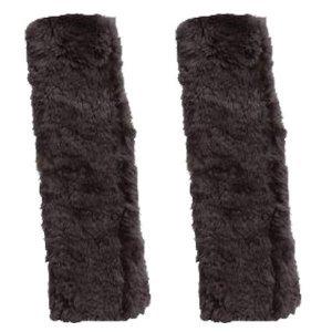 Sheepskin Seat Belt Shoulder Pads, Grey Color (Pair)