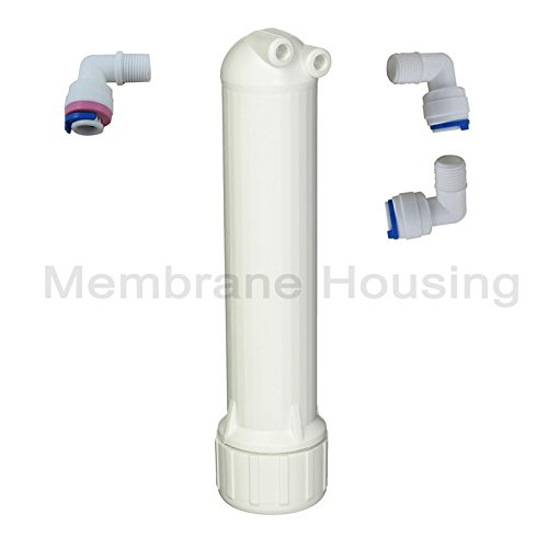 - Malida 1812WH Reverse Osmosis Membrane Housing with 1/8 inch FPT Connections,+ 3pcs 1/8 inch Elbow quick connector. (White)