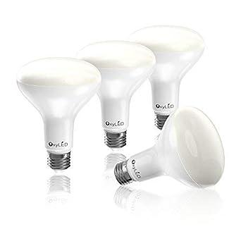 OxyLED Pack de 4 Bombillas LED, BR30 5000K, 9W 810LM, Luz Blanca Natural, Casquillo E27: Amazon.es: Iluminación