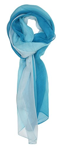 Ted and Jack - Silk Ombre Lightweight Accent Scarf (Light Blues) ()