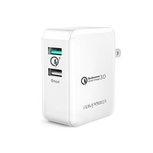 USB充電器 RAVPower 30W 2ポート QC3.0 充電器 【Qu...