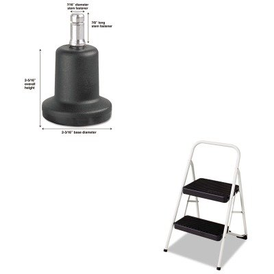 KITCSC11135CLGG1MAS70175 - Value Kit - Master Caster Bell Glides (MAS70175) and Cosco 2-Step Folding Steel Step Stool (CSC11135CLGG1)