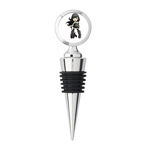 Sexy Punk Goth Rocker Teen Girl Cartoon Steel Bottle Stopper Winestopper