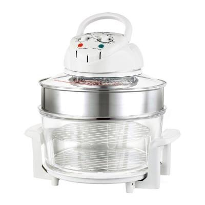 Chefs Glass Bowl - Magic Chef 3 Gal. Glass Bowl White Convection Countertop Ovens